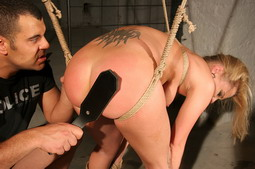 Shes dominated and fucked while being hogtied