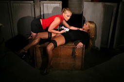Blondie gets fucked by her mistress Kathia Nobili