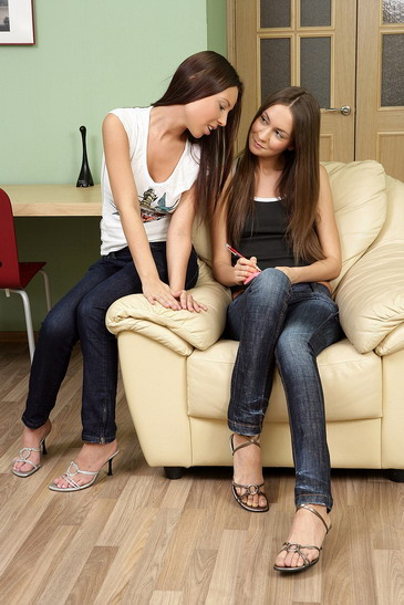 Take two nasty lesbo teens like Anne and Sweet Lana