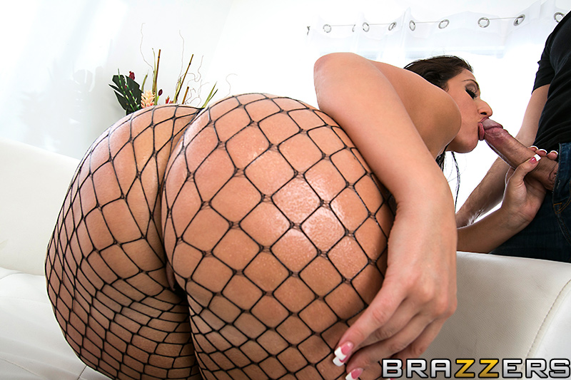 Big ass shaking on cock