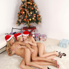 Angelic blonde trio give unwrap strapon and fuck tight twats