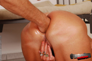 Horny granny on a fucking machine with a speculum