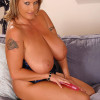 Big Babe Laura M pleasures herself