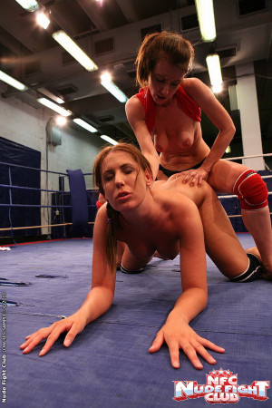 Girl-girl fight w strap-on fucking after catfight