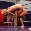 Nikky Thorne and Nataly Von in the boxing ring