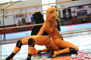 Aleska and Celine Doll are fighting in the ring