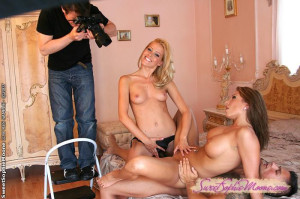 Nasty couple meets Sophie and w her strap-on dildo