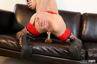 Sexy Cytherea loves her favorite glass dildo masturbating hard!