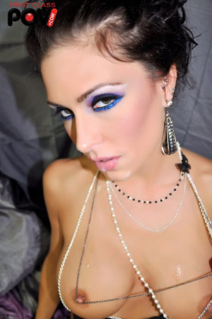 Jessica Jaymes Sucks a POV style cock and gets lots of cum jizzed in her face