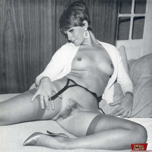 Some horny girls showing their vintage hairy soaked pussy