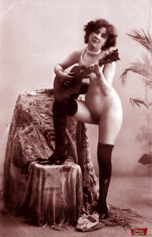 Several vintage chicks wearing stockings in the twenties