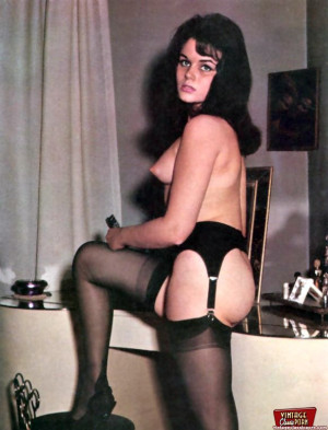 Beautiful vintage ladies are posing naked in the sixties