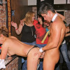 Dudes boning cute hot drunk babes at a big dancing party