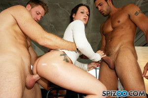 Audrinna Levine Two Dudes One Chick – PervertCollege.com – Free Gallery