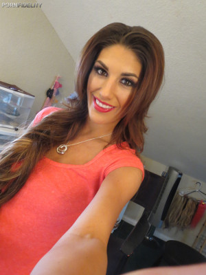 Real life is alway better than fiction, so its a great day when August Ames comes to visit Ryan for a real, spontaneous fuck, and its all on video for you to see.