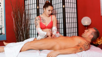 Devilsfilm presents Strip Mall Asian Massage #03 starring Marcus London, Marika Rose.