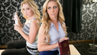 Allgirlmassage presents Fighting With Mommy starring Cherie DeVille, Samantha Rone.