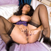 Donna Ambrose  Beautiful Anilos milf Donna stretches her mature pussy with a glass dildo