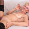 Susan Lee  Sex starved blonde milf gags on the stiff cock of a young stud before she gets an intense fucking