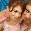 Michelle & Ashlyn - Sexy young ballerinas take on a big fat cock