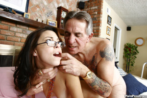 Danni Cole – Young slut volunteers her tight pussy down at the old perverts retirement home