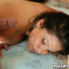 Sophia Lomeli - Dumb chick gets talked into fucking after the oily massage