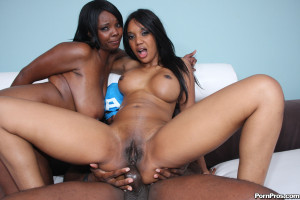 Capri and Stacy – Cheap black hoes servicing a monster cock