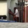 Dumpster Diving - Couple caught fucking on the street corner