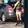 Blonde facial at car wash - Blonde facial at car wash
