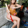 Holy hell this is one smokin nubile courtney is outside topless ready to play