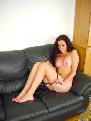 Hottie so cute and innocent sits and shows her pointy tits