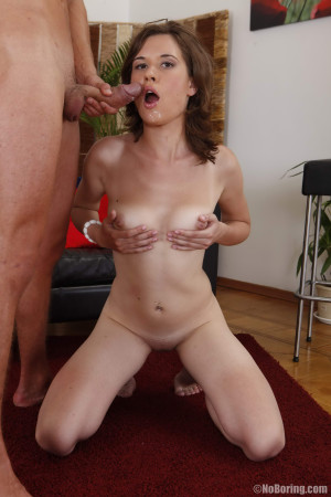 Horny gal looks really slutty when bent over in doggystyle