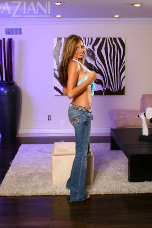 Cutie Sadie Sweet loves showing off her butt in tight jeans but she likes being naked even more!