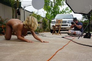 Behind the scenes with the blonde, very hot and sexy Nicole Aniston.