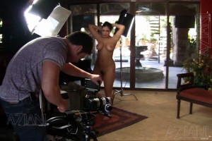 Hang out with gorgeous busty brunette, Aria Giovanni, during her sexy day of shooting with Aziani.