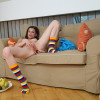 LittleCaprice Little Caprice playing with fruits