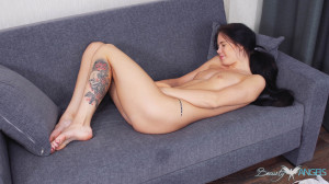 Sweet dark-haired babe brings daytime fantasies into real life