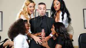 Diamond Jackson, Jasmine Webb, Jade Aspen, Anya Ivy Sex Video in Office 4-Play VII: Ebony Babes