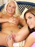 Angelic teen nudes and gets deeply fisted by brunette pal