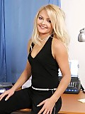 Heavenly blonde teen nudes and dildos tight holes in office