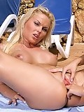 Watch this stunning blonde get fisted hard by her girlfriend