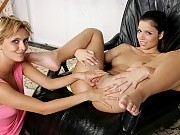 Hot brunette teen nudes and receives deep fisting in chair