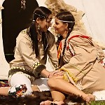 Native american cuties lap butts and finger pussies by tipi