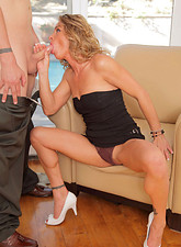 Amanda Blow  Horny cougar Amanda Blow has her mature pussy pounded by a stiff cock