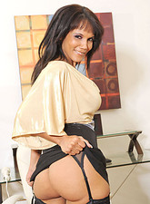 Anjanette Astoria  Black Anilos Anjanette Astoria pleasures herself with a magic wand