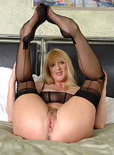 Bethany Sweet  Check out Anilos Bethany Sweet as she nails her hairy cougar pussy with a big dildo