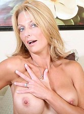 Brenda James  Hot alluring Anilos comforts herself by fingering her tight pink snatch in the bedroom
