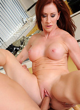 Catherine De Sade  Catherine Desade sucks a huge cock and gets fucked hard in the kitchen by her husband