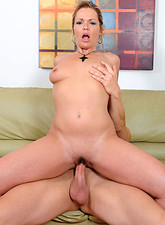Kelly Leigh  Anilos housewife Kelly Leigh gets fucked proper and bathed in cum