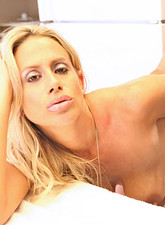 Kylie Worthy  Sinful anilos blonde milf Kylie Worthy sucks on a cock like a champion before thrusting her pussy on it